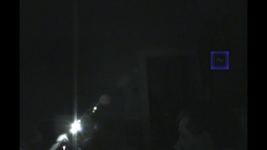 Still frame of orb in motion.  Chuck's Paranormal Adventures