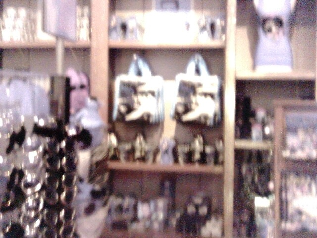 Possible ghost face in gift store at Madame Toussauds in Las Vegas