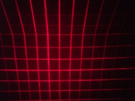 How the laser grid looks.