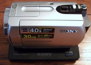 Sony DCR SR42 camcorder used by Chuck's Paranormal Adventures