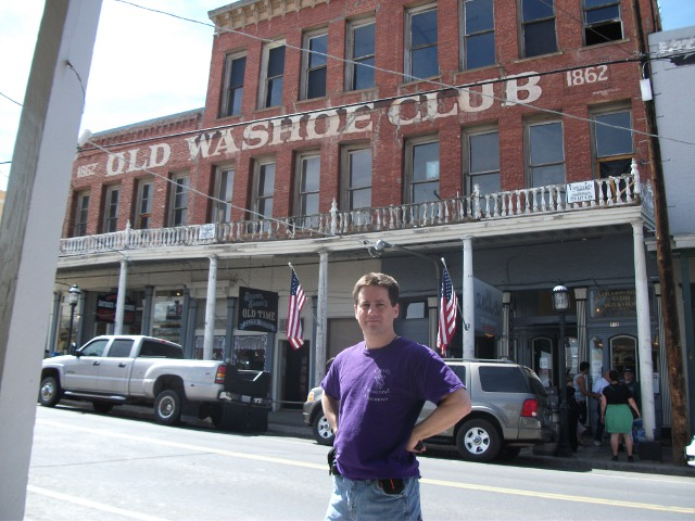 Chuck's adventures at the Old Washoe Club,  April 17, 2014
