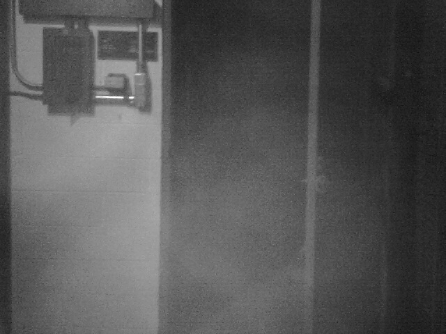 IR photo of entrance to back storage area- Chuck's Paranormal Adventures